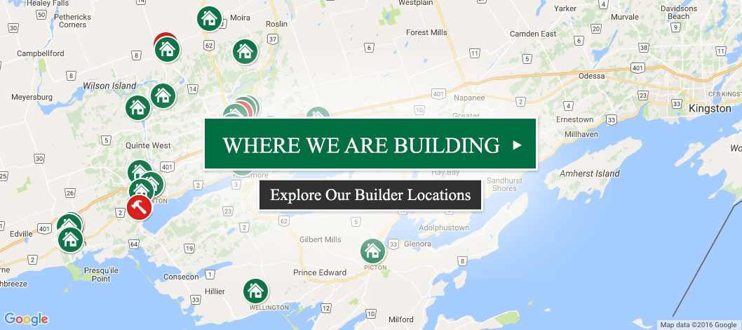 Quinte Home Builders - Where We Are Building